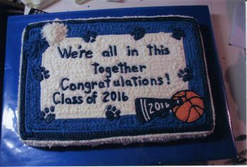 School Basketball Cheer Cake