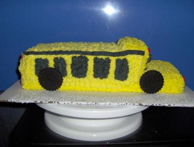Peachy School Bus Cake Personalised Birthday Cards Cominlily Jamesorg