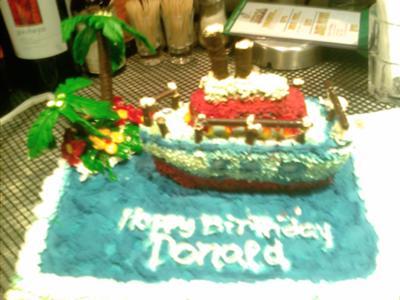 Donald's Ship Birthday Cake
