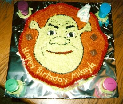 Excellent Shrek Birthday Cake Funny Birthday Cards Online Elaedamsfinfo