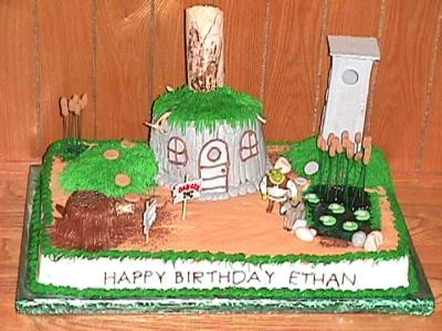 Shrek's Swamp Birthday Cake