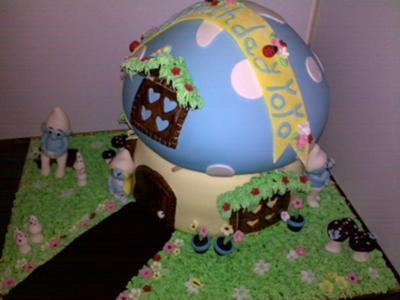 Smurf House Cake