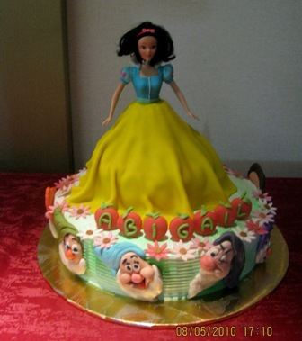 Snow White and the 7 Dwarfs Cake