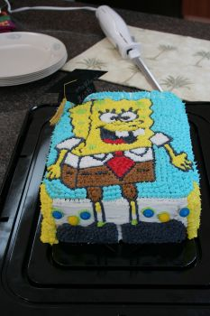Spongebob Graduation Cake