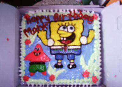 Super Spongebob Squarepants And His Friend Star Cake Funny Birthday Cards Online Inifofree Goldxyz