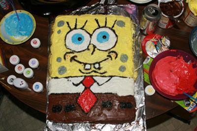 Astonishing Spongebob Squarepants Cake Birthday Cards Printable Inklcafe Filternl