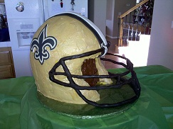 Super Bowl Helmet Cake