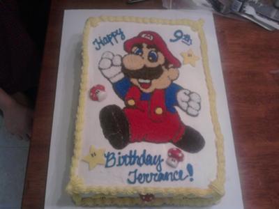 Cool Super Mario Birthday Cake Funny Birthday Cards Online Fluifree Goldxyz