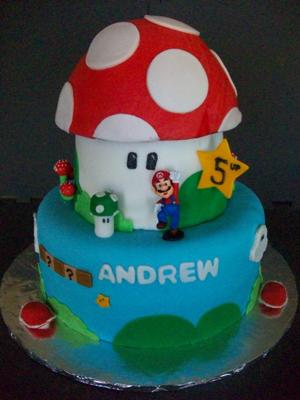 Super Mario World Cake