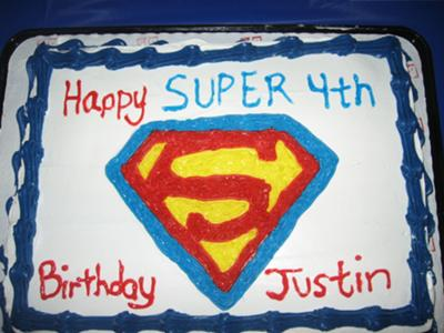 birthday cake symbol. Superman Symbol Cake. by Melissa B. (RI). Super 4th Birthday Cake