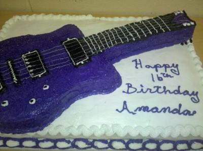 Sweet 16 Guitar Cake