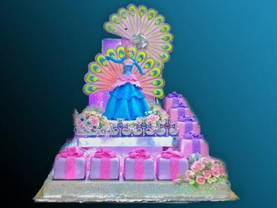 Remarkable Sweet Barbie 17Th Birthday Cake Personalised Birthday Cards Veneteletsinfo