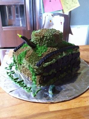 Tank Cake for Buddy