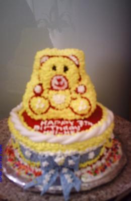 Hei-Hei's Teddy Bear Birthday Cake