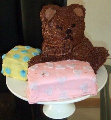 Teddy Bear Birthday Cake