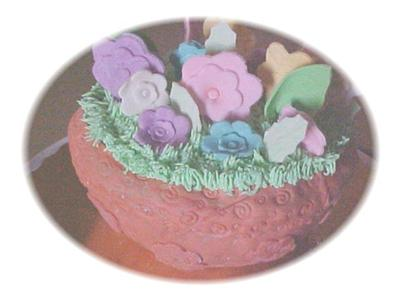 Tera Cotta Flower Pot Cake