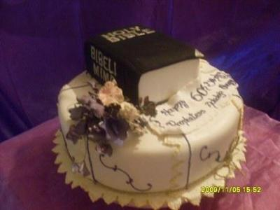 Bible Birthday Cakes http://www.easy-birthday-cakes.com/the-holy-bible-cake.html