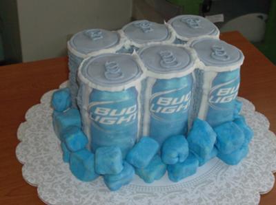 Six Pack Bud Light Cake