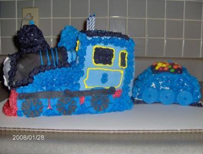 Thomas Train and M&M Cake