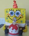 Spongebob with his cake