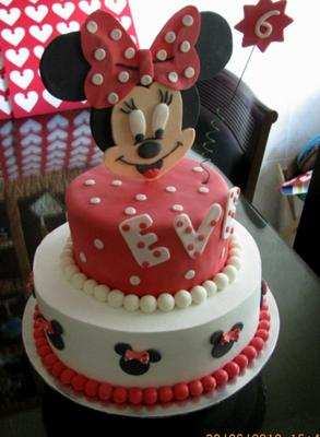 Tiered Minnie Mouse Cake