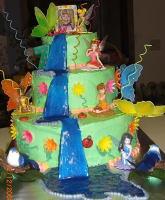 Awesome Tinkerbell Three Tier Cake Funny Birthday Cards Online Hendilapandamsfinfo