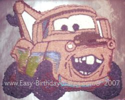 tow mater birthday cakes