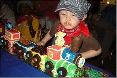 Jacks 3rd Birthday Party Train Birthday Cake