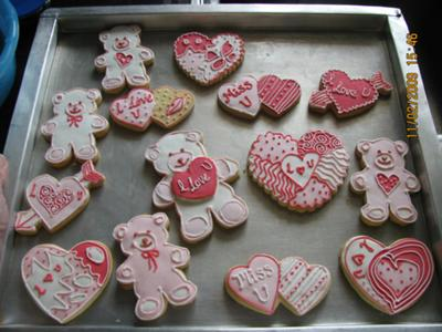 Valentines Images on Valentine Cookies