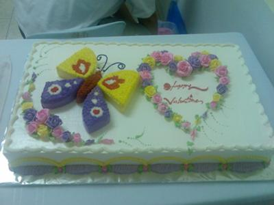 Valentine's Day Butterfly Cake