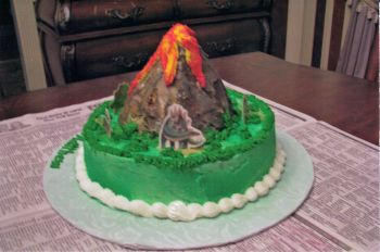 Volcan Birthday Cake
