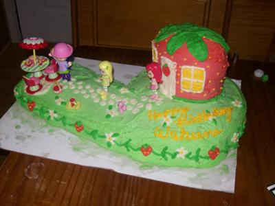 Wakeenas Strawberry Shortcake Cake