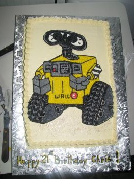 Wall E Birthday Cake