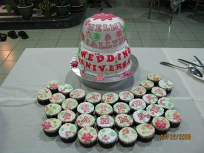 Wedding Anniversary and Birthday Cake