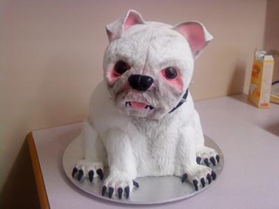 White Dog Cake