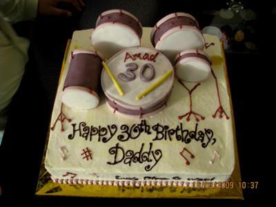 Drum Set Cake