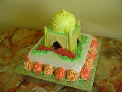 3D Mosque Cake