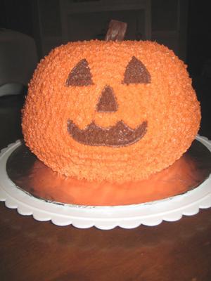 3D Pumpkin Cake