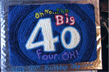 Outstanding 40Th Birthday Cakes A Bright And Colorful Birthday Cake Funny Birthday Cards Online Overcheapnameinfo