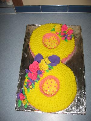 8th Wedding Annivesary Cake