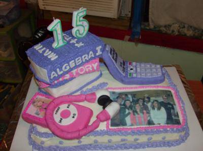 Phenomenal A 15 Year Olds Life Cake Funny Birthday Cards Online Fluifree Goldxyz