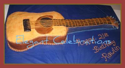 Swell Acoustic Guitar Birthday Cake Funny Birthday Cards Online Alyptdamsfinfo
