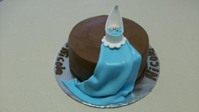 Baby Boy Carriage Cake