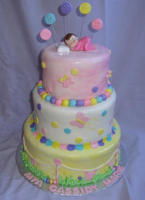 Baby Buttons Cake