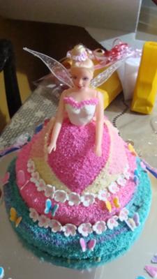 Admirable Barbie Doll Birthday Cake Birthday Cards Printable Opercafe Filternl