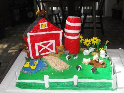 Barn Yard Cake