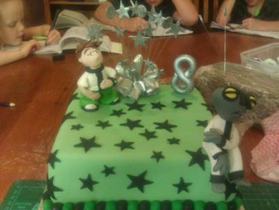 Ben 10 Theme Cake