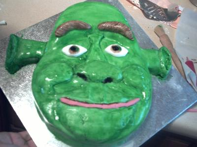 Fantastic Bens Shrek Cake Funny Birthday Cards Online Elaedamsfinfo