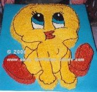Marvelous Tweety Bird Cake Design Funny Birthday Cards Online Kookostrdamsfinfo