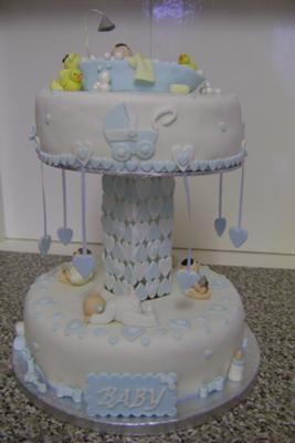 Carousel Baby Shower Cake